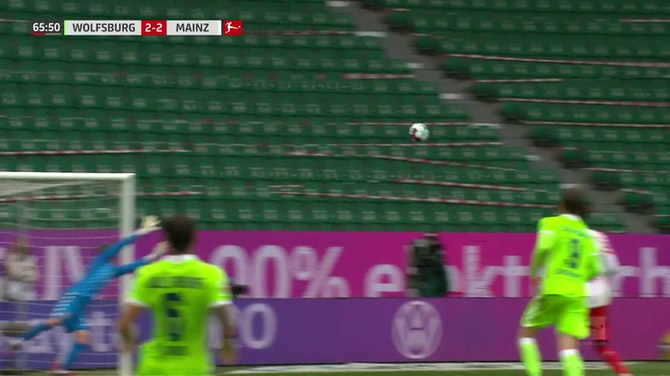 Joao Victor Santos Sa with a Goal vs. 1. FSV Mainz 05