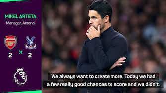 Preview image for Arteta says Arsenal weren't lucky despite Lacazette's last minute equaliser