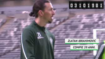 Anteprima immagine per Ibra compie 39 anni: 11 campionati e più di 500 gol...