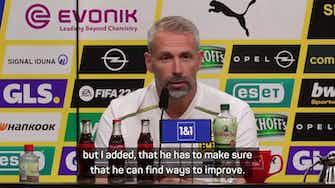 Preview image for Dortmund coach Rose feels Haaland can still improve despite Frankfurt double