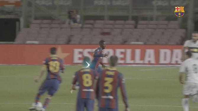 Ousmane Dembélé's quick feet and speed