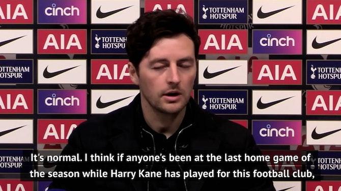 Kane's Tottenham lap of honour 'normal', insists Mason