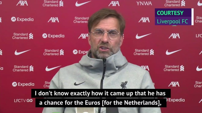 Klopp pleased with Van Dijk's decision to skip Euros