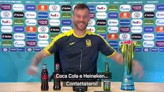 """Anteprima immagine per Yarmolenko, scherza ma non troppo: """"Coca Cola e Heineken, contattatemi!"""""""