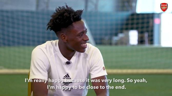 Preview image for Albert Sambi Lokonga's first Arsenal interview