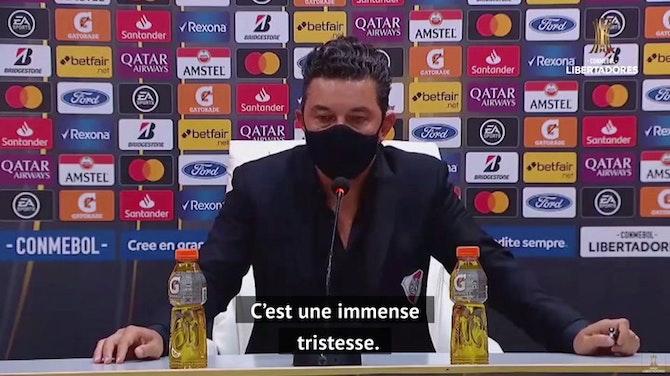 "Image d'aperçu pour River Plate - Gallardo : ""Maradona ? Une immense tristesse"""
