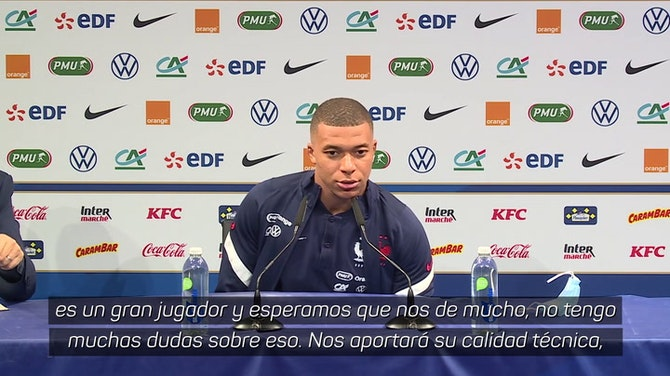 "Mbappé, sobre Benzema: ""Es un delantero muy completo"""