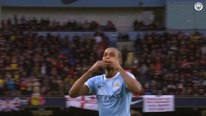 Grandes momentos de Fernandinho con el Manchester City.