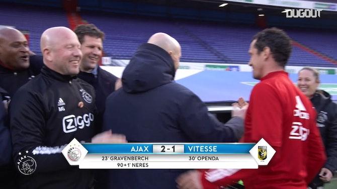 El Ajax celebra ganar la KNVB Cup