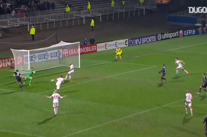 All Lacazette's goals vs Monaco