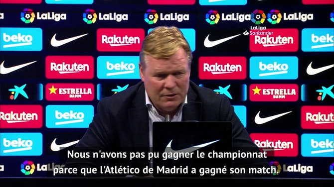 "37e j. - Koeman : ""J'espère que Messi va continuer avec nous"""