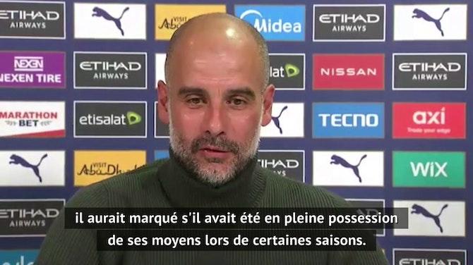 "38e j. - Guardiola encense ""l'incroyable"" Agüero"