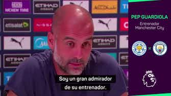 Imagen de vista previa para Guardiola se declara admirador de la carrera de Brendan Rodgers