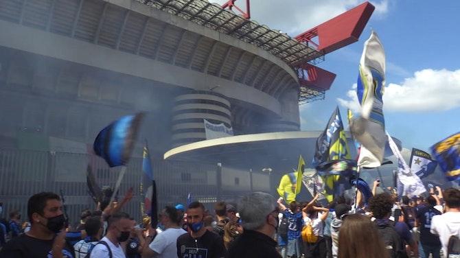 Inter, i tifosi in attesa a San Siro