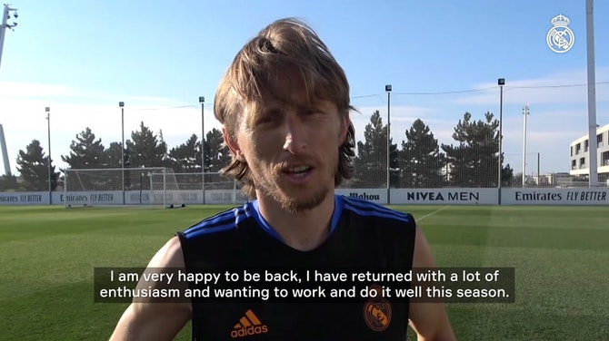 Vorschaubild für Luka Modrić: 'I return with great excitement and am raring to work hard and perform well this season'