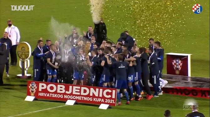 Preview image for GNK Dinamo Zagreb celebrate 2020-21 season league title