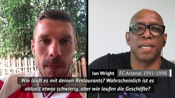 "Podolski zu Wright: ""Du isst wohl viele Döner"""