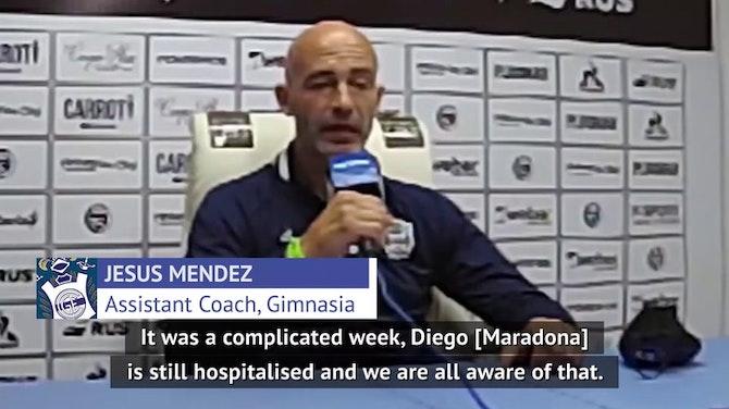 Gimnasia assistant coach provides update on Maradona