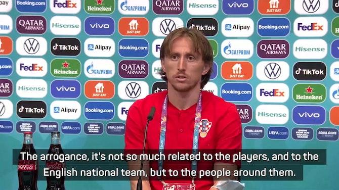 Croatia's Modric not impressed with 'arrogant' English media
