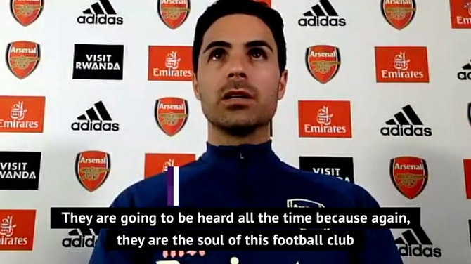 'Arsenal fans will always be heard' - Arteta on fans' protests