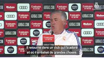 Image d'aperçu pour Real Madrid - Ancelotti salue le retour de Ronaldo à Manchester United