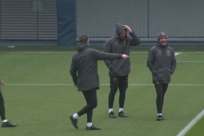 Man City training Pre PSG ©️UEFA 2020