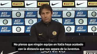 "Imagen de vista previa para Conte avisa: ""Nos estamos acercando a la Juventus"""
