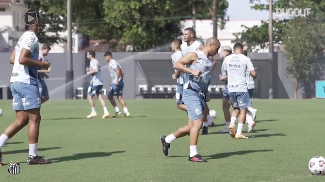 Imagen de vista previa para Santos se entrena antes de la vuelta ante San Lorenzo