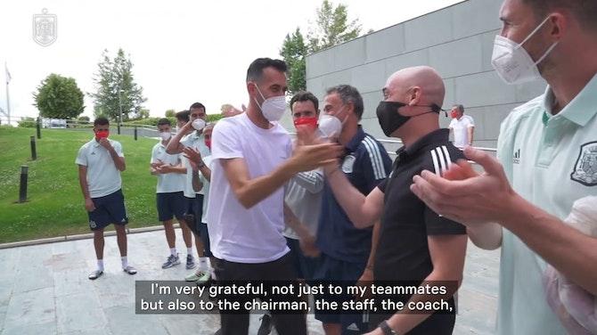 Sergio Busquets rejoins Spain's training camp