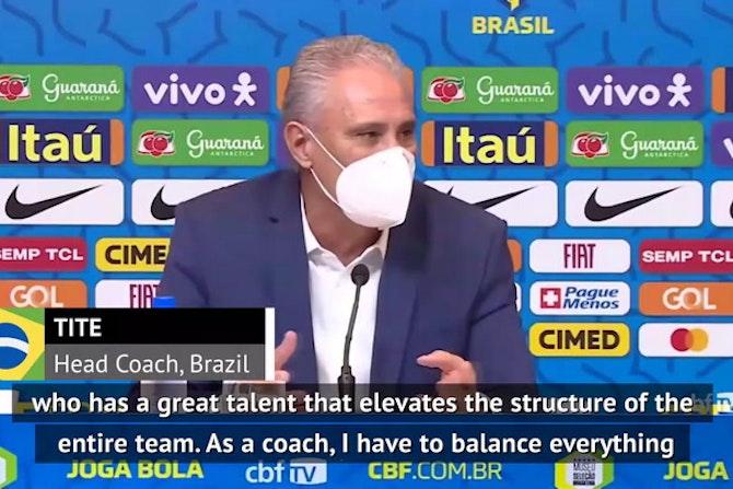 I balance the Brazil team for Neymar - coach Tite