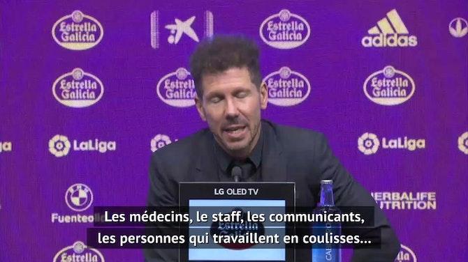 "38e j. - Simeone : ""Un énorme effort collectif"""