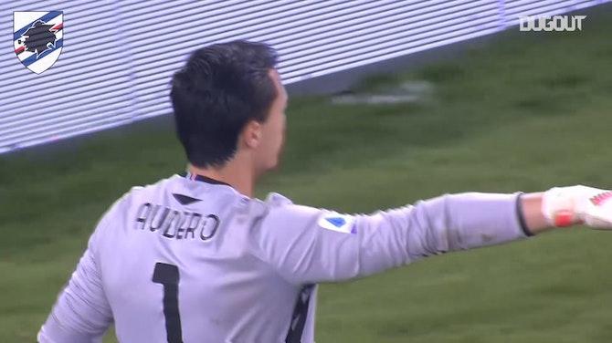 Audero blocks Dzeko's penalty