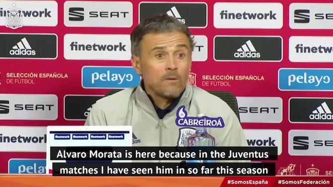 Enrique pleased to have 'happy' Morata in Spain squad