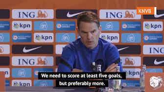 Preview image for  Bullish De Boer demanding 'at least five goals' against Gibraltar