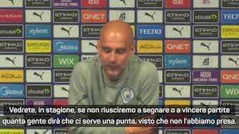 """Anteprima immagine per Guardiola: """"Non ci serve una punta perché abbiamo fatto cinque gol, ma..."""""""