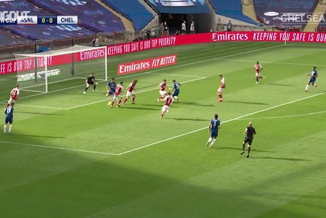 Golaço de Pulisic pelo Chelsea contra o Arsenal na final da FA Cup
