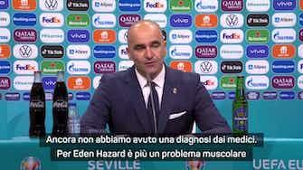 "Anteprima immagine per Martinez: ""De Bruyne e Hazard? Infortuni da valutare"""