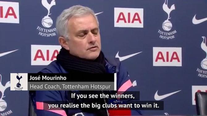FOOTBALL: EFL Cup: Mourinho hungry for EFL Cup success
