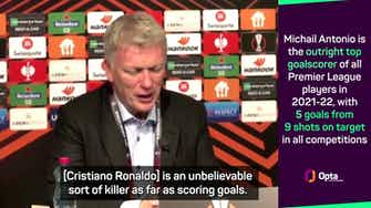 Preview image for Moyes hopes Antonio can emulate 'killer' Ronaldo