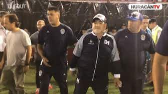 Preview image for Maradona arrives at CA Huracán stadium