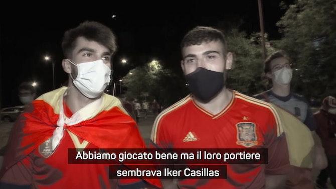 Tifosi spagnoli, bordate a Morata