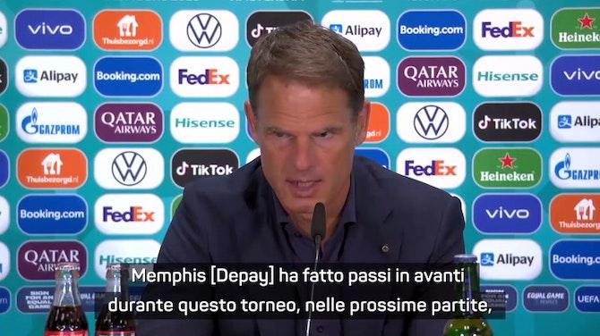 "Anteprima immagine per De Boer e Dumfries: ""Piena fiducia in Depay"""