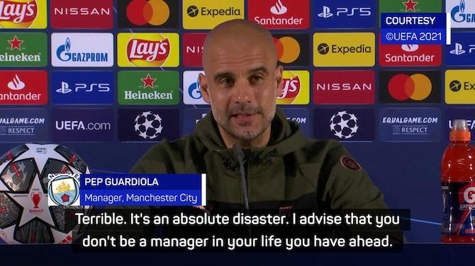 'An absolute disaster' - Guardiola's Champions League final selection headache
