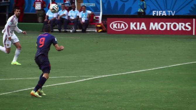 Preview image for Robin Van Persie's flying header vs Spain
