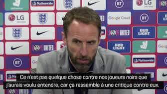 """Image d'aperçu pour Angleterre - Southgate sur les huées entendus : """"Ce n'est pas quelque chose contre nos joueurs noirs que j'aurais voulu entendre"""""""