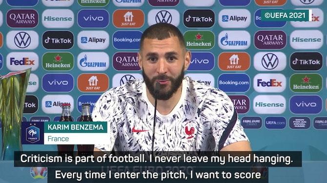 Benzema on Ronaldo reunion and silencing critics at Euro 2020