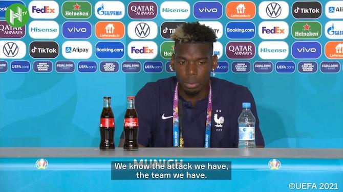 Paul Pogba removes Heineken bottle at press conference