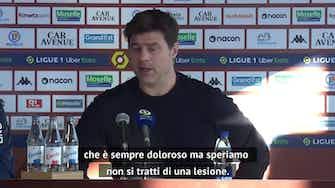 """Anteprima immagine per Pochettino: """"Nulla di grave per Mbappé. Verratti? Felice per lui"""""""