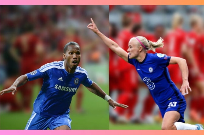 Didier Drogba x Pernille Harder [crushing Bayern hearts]