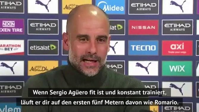 """Guardiola: """"Agüero kann mit 45 noch spielen"""""""